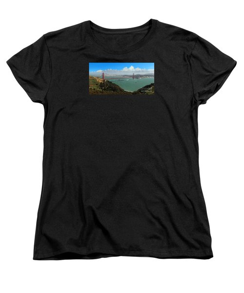 Uss Iowa, Battelship, Golden Gate Bridge, San Francisco, Califor Women's T-Shirt (Standard Cut) by Wernher Krutein