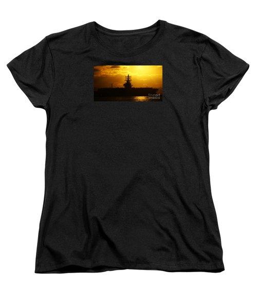 Uss Ronald Reagan Women's T-Shirt (Standard Cut) by Linda Shafer
