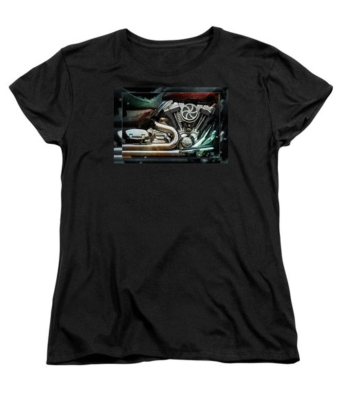 Women's T-Shirt (Standard Cut) featuring the photograph V Twin by WB Johnston