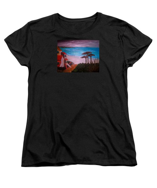 Women's T-Shirt (Standard Cut) featuring the painting On Vacation by Pristine Cartera Turkus