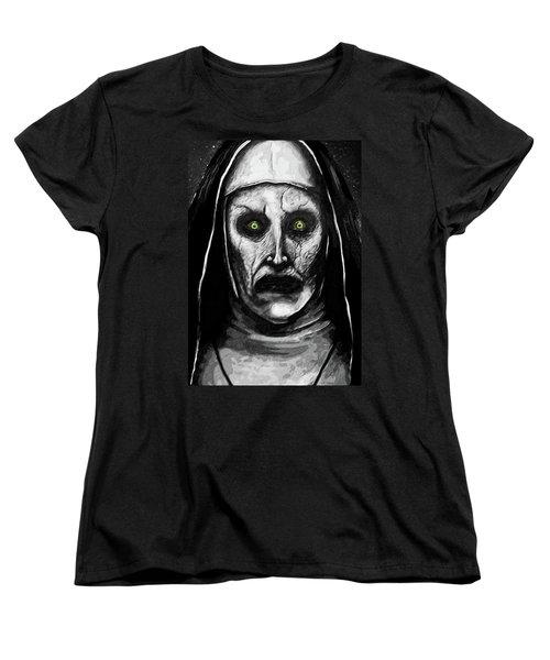 Valak The Demon Nun Women's T-Shirt (Standard Cut) by Taylan Apukovska