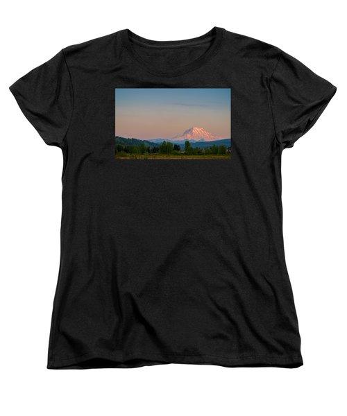 Valley Sunset Of Mt Rainier Women's T-Shirt (Standard Cut)