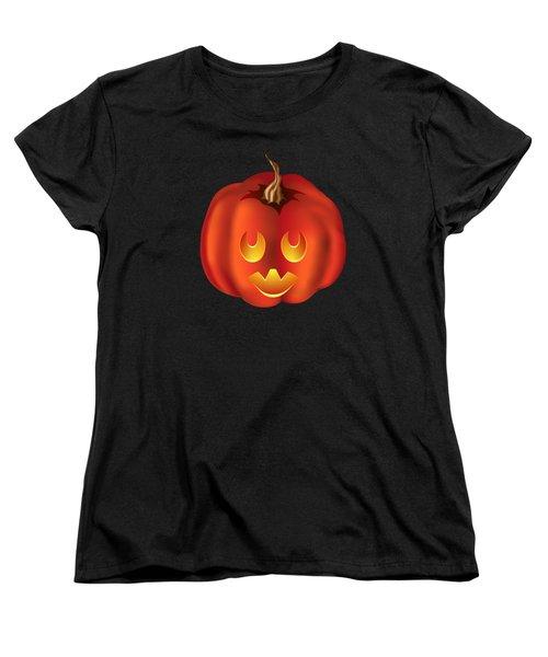 Vampire Halloween Pumpkin Women's T-Shirt (Standard Cut) by MM Anderson