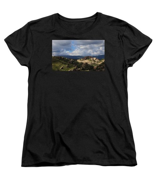 Vasquez Rocks Natural Area Women's T-Shirt (Standard Cut) by Viktor Savchenko