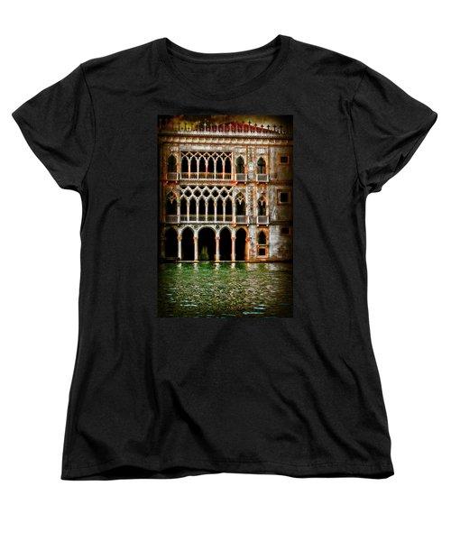 Women's T-Shirt (Standard Cut) featuring the photograph Venice Palace  by Harry Spitz