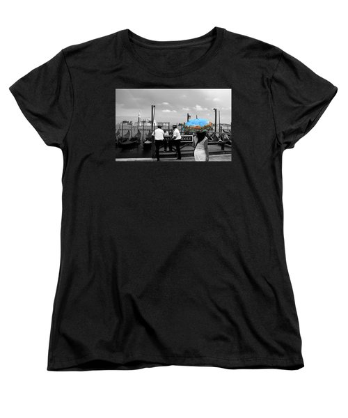 Women's T-Shirt (Standard Cut) featuring the photograph Venice Umbrella by Andrew Fare