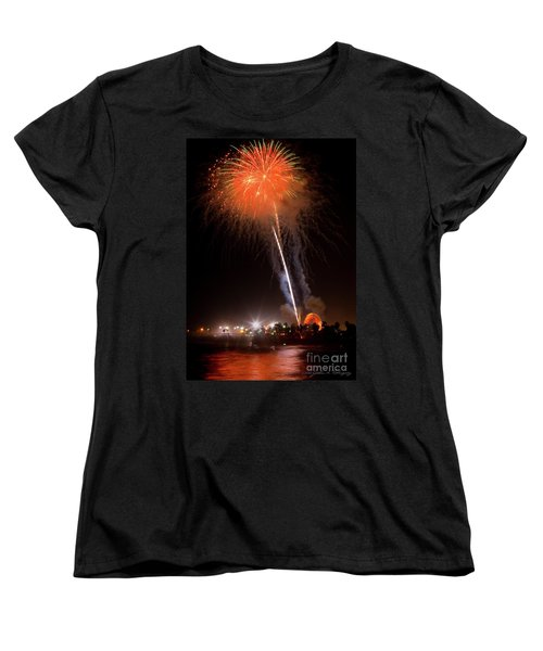 Women's T-Shirt (Standard Cut) featuring the photograph Ventura California Fair Fireworks by John A Rodriguez