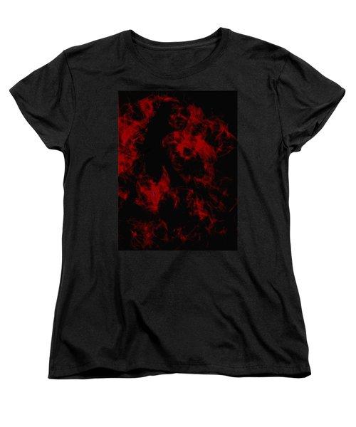 Venus Williams On Fire Women's T-Shirt (Standard Cut) by Brian Reaves