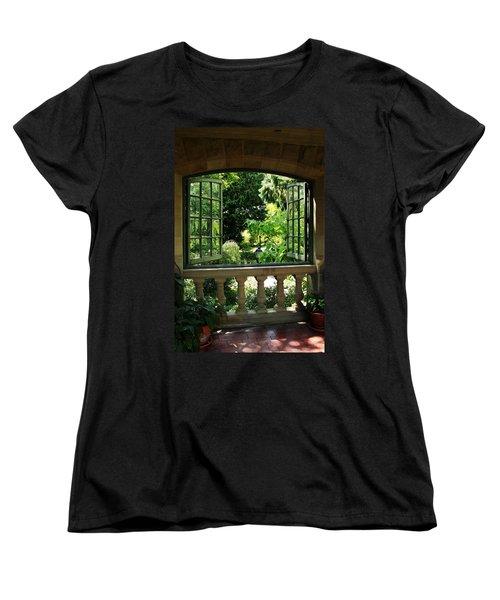 Veranda View Women's T-Shirt (Standard Cut) by Natalie Ortiz