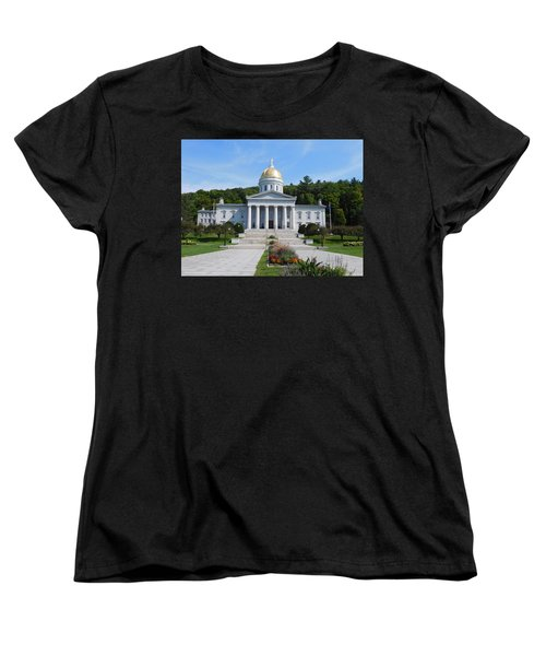 Vermont State House Women's T-Shirt (Standard Cut) by Catherine Gagne