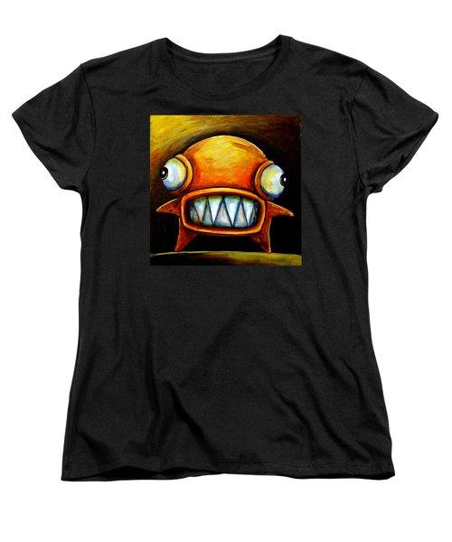 Very Scarey Glob Women's T-Shirt (Standard Cut) by Leanne Wilkes