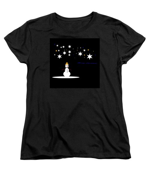 Women's T-Shirt (Standard Cut) featuring the digital art Very Simple by Cathy Harper