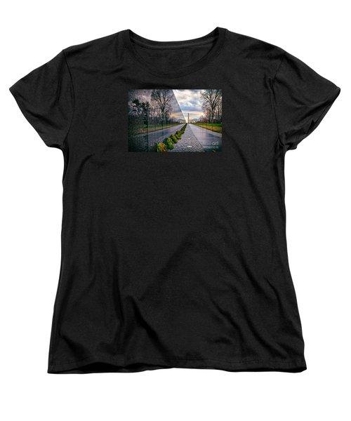 Vietnam War Memorial, Washington, Dc, Usa Women's T-Shirt (Standard Cut) by Sam Antonio Photography