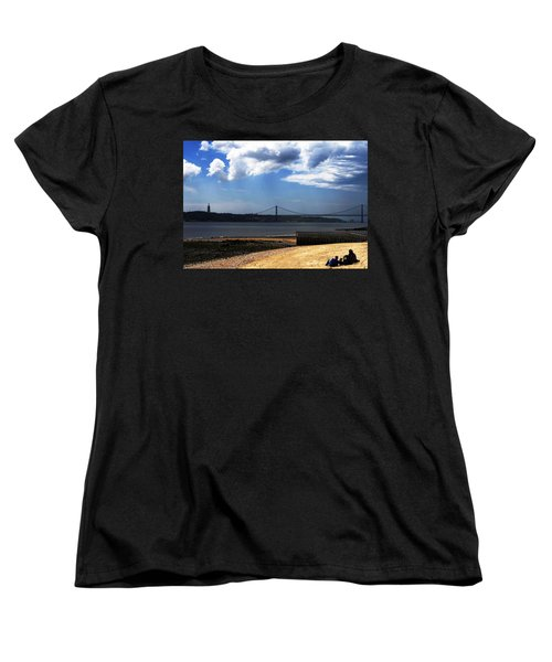View From Across The Tagus Women's T-Shirt (Standard Cut) by Lorraine Devon Wilke