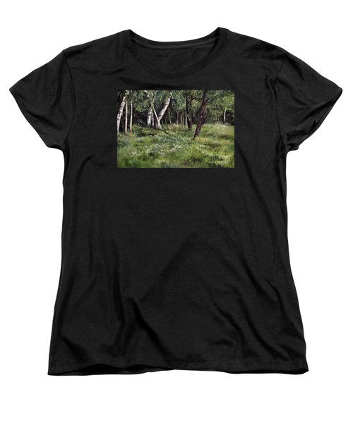 Women's T-Shirt (Standard Cut) featuring the painting View From My Studio by Laurie Rohner