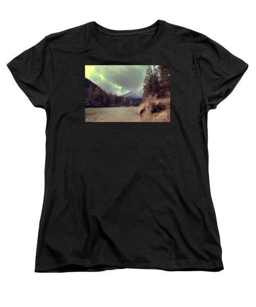 View On The Blackfoot River Women's T-Shirt (Standard Cut) by Janie Johnson