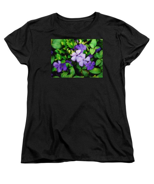 Women's T-Shirt (Standard Cut) featuring the photograph Vinca by Sandy MacGowan
