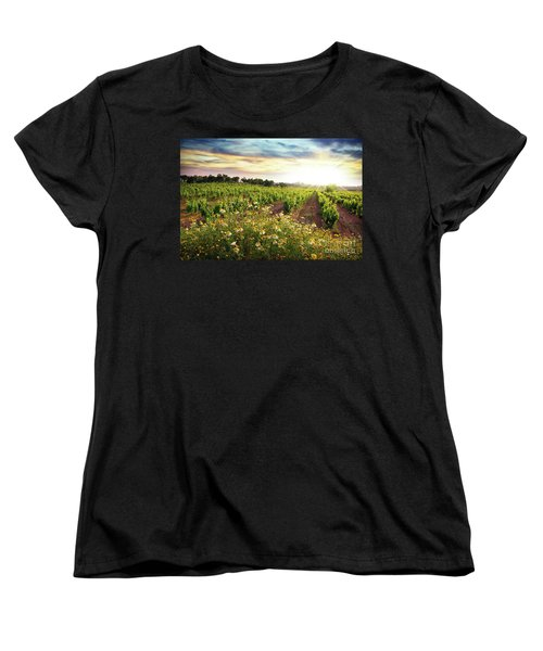 Vineyard Women's T-Shirt (Standard Cut) by Carlos Caetano