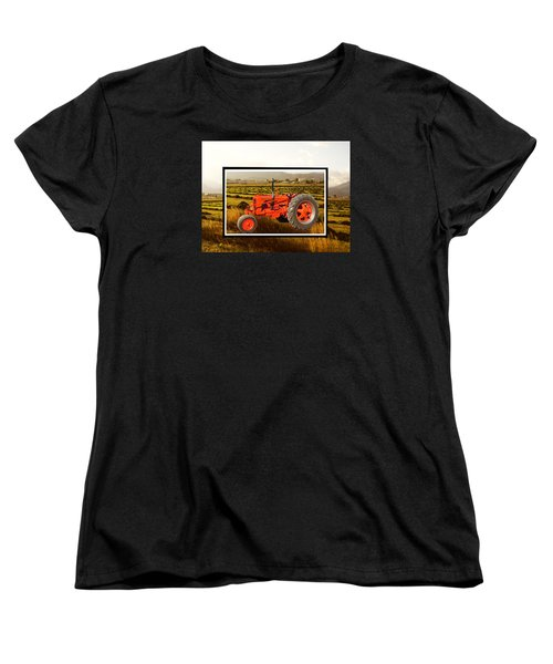 Women's T-Shirt (Standard Cut) featuring the photograph Vintage 1948 Case Dc Tractor by Deborah Moen