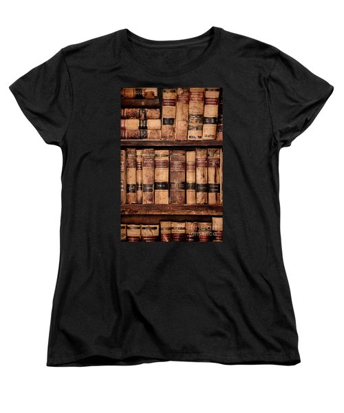 Women's T-Shirt (Standard Cut) featuring the photograph Vintage American Law Books by Jill Battaglia