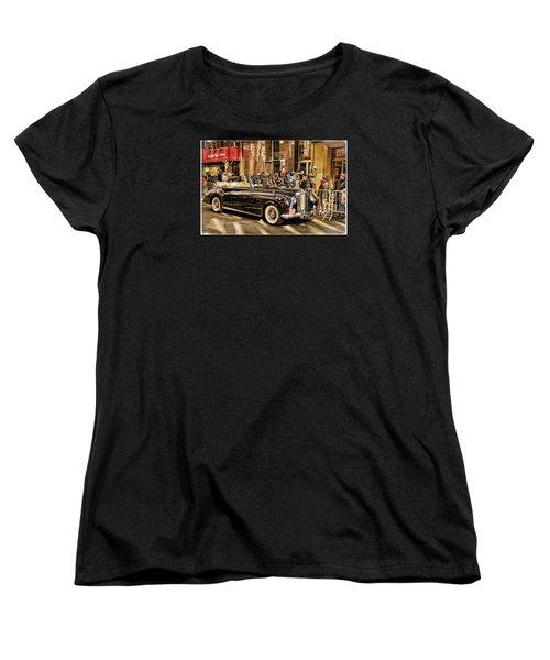 Vintage Bentley Convertible Women's T-Shirt (Standard Cut) by Mike Martin