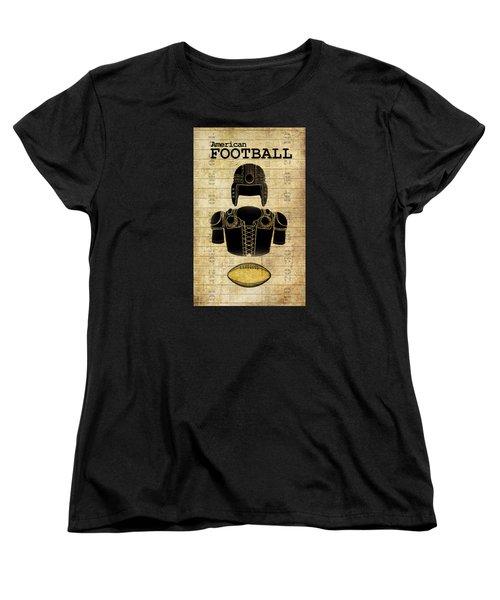Vintage Football Print Women's T-Shirt (Standard Cut)