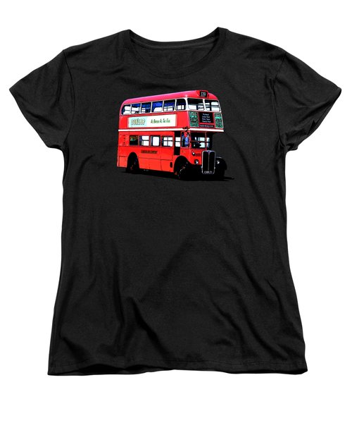 Vintage London Bus Tee Women's T-Shirt (Standard Cut) by Edward Fielding