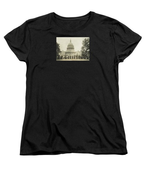 Vintage Motorcycle Police - Washington Dc  Women's T-Shirt (Standard Cut) by War Is Hell Store