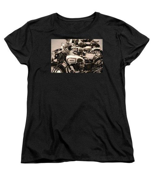 Vintage Motorcycles Women's T-Shirt (Standard Cut)