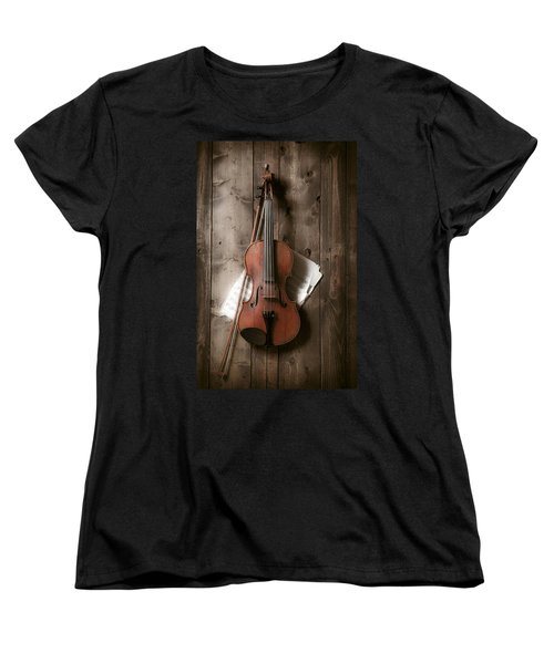 Violin Women's T-Shirt (Standard Cut) by Garry Gay