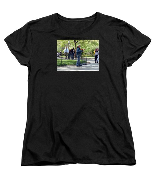 Women's T-Shirt (Standard Cut) featuring the photograph Violinist by Helen Haw
