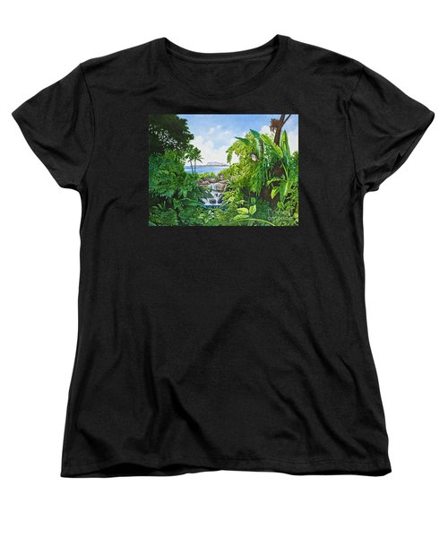 Visions Of Paradise Ix Women's T-Shirt (Standard Cut) by Michael Frank