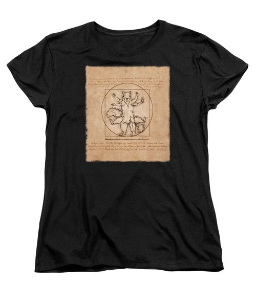 Vitruvian Squirrel Women's T-Shirt (Standard Cut)
