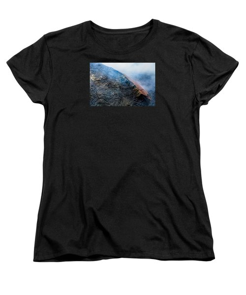 Women's T-Shirt (Standard Cut) featuring the photograph Volcanic Ridge by M G Whittingham