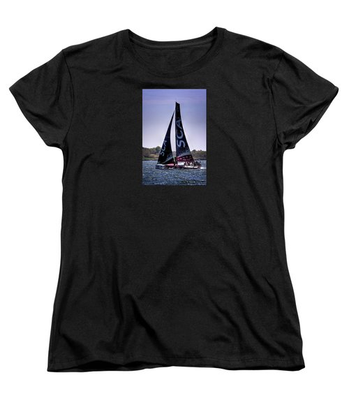 Women's T-Shirt (Standard Cut) featuring the photograph Volvo Ocean Race Team Sca by Tom Prendergast