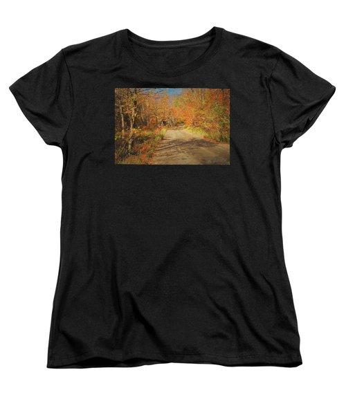 Vt.rte. Fifty Eight Hazen  Notch Women's T-Shirt (Standard Cut) by John Selmer Sr