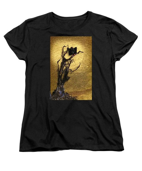 Vulture With Textured Sun Women's T-Shirt (Standard Cut)