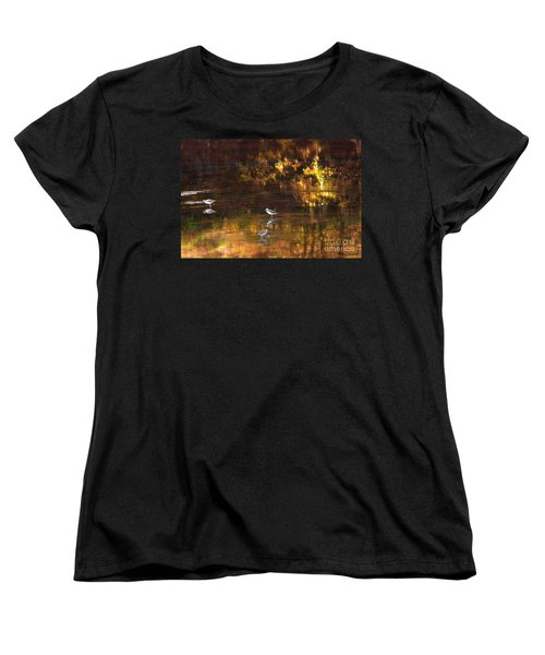 Wading In Light Women's T-Shirt (Standard Cut) by Steve Warnstaff