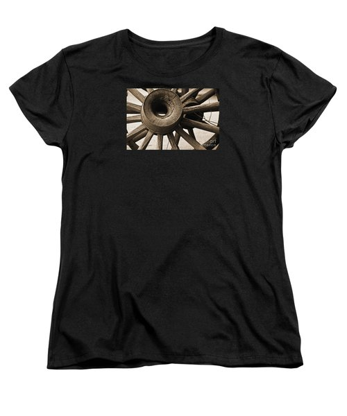 Wagon Wheel Hub Women's T-Shirt (Standard Cut) by Kirt Tisdale