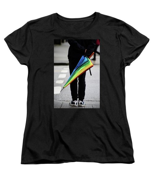 Women's T-Shirt (Standard Cut) featuring the photograph Waiting For Superman  by Empty Wall