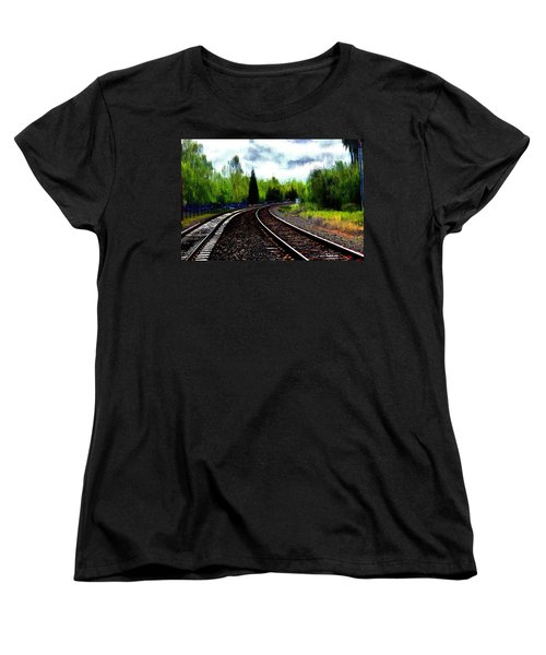 Women's T-Shirt (Standard Cut) featuring the mixed media Waiting On The Southern by Terence Morrissey