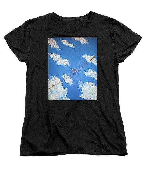 Walking The Line Women's T-Shirt (Standard Cut)