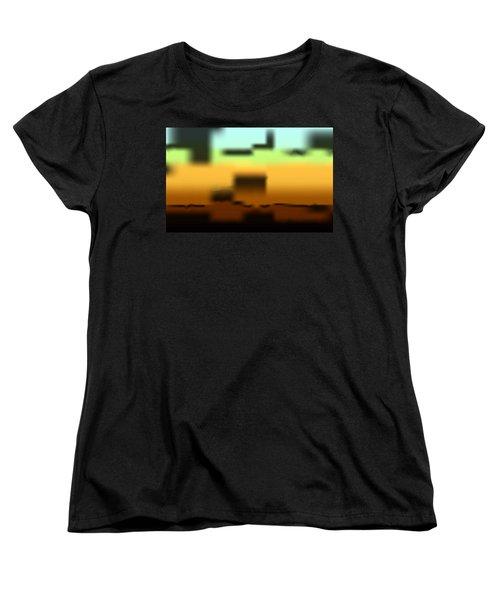 Wall Gradient Women's T-Shirt (Standard Cut) by Kevin McLaughlin
