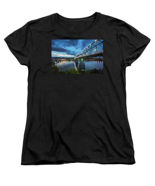 Walnut At Night Women's T-Shirt (Standard Cut) by Steven Llorca