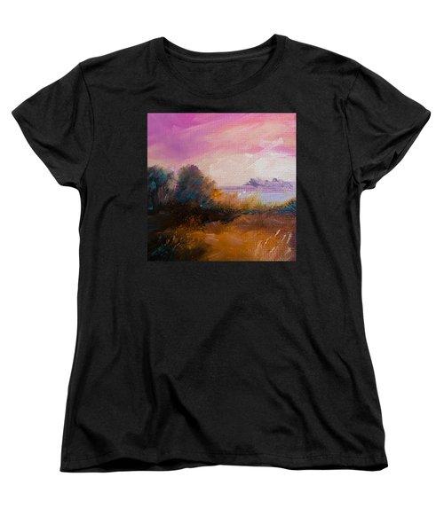 Warm Colorful Landscape Women's T-Shirt (Standard Cut)