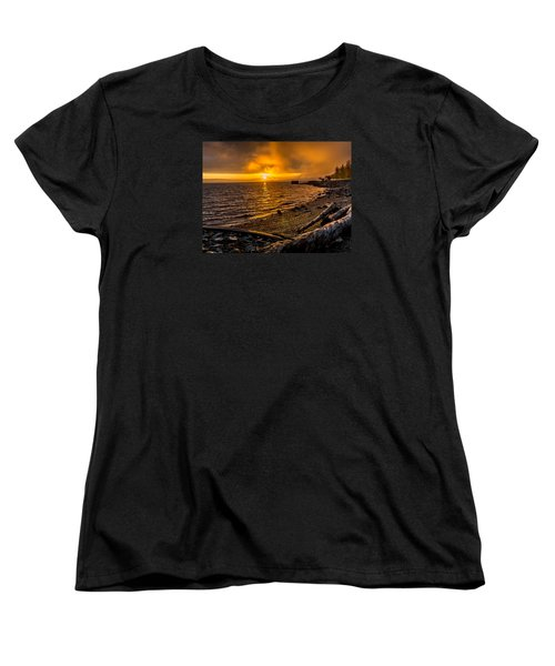 Warming Sunrise Commencement Bay Women's T-Shirt (Standard Cut) by Rob Green