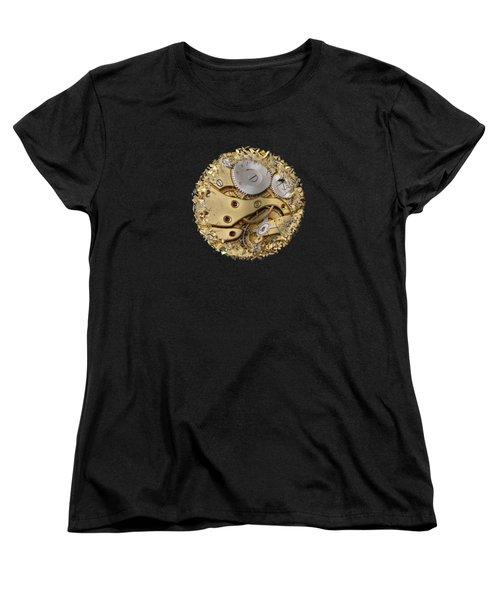 Warped And Shattered Clockwork Mechnism Women's T-Shirt (Standard Cut) by Michal Boubin