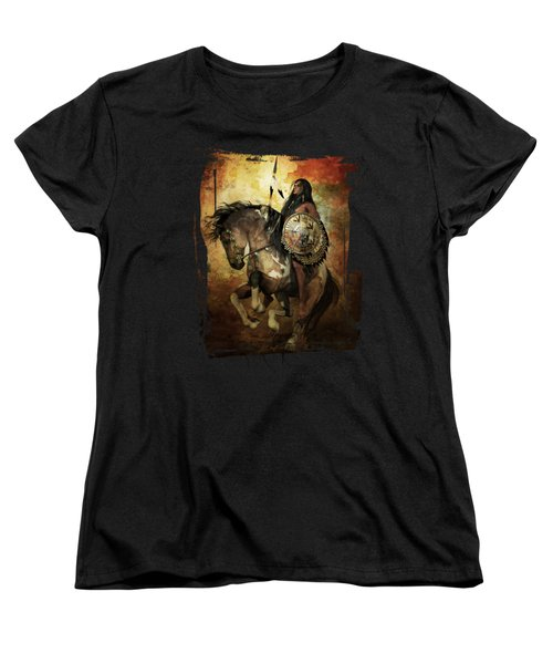 Women's T-Shirt (Standard Cut) featuring the digital art Warrior by Shanina Conway