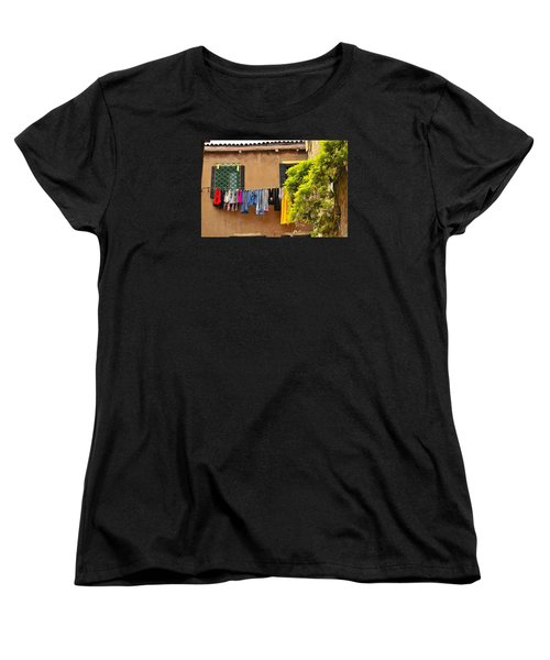 Women's T-Shirt (Standard Cut) featuring the photograph Wash Day In Venice by Richard Ortolano