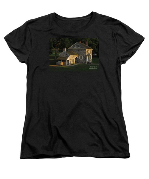 Women's T-Shirt (Standard Cut) featuring the photograph Washington's Headquarters At Valley Forge by Cindy Manero